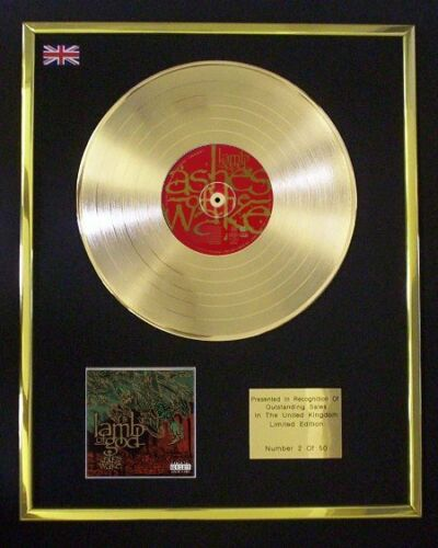 LAMB OF GOD ASHES OF THE WAKE CD GOLD DISC FREE P+P!