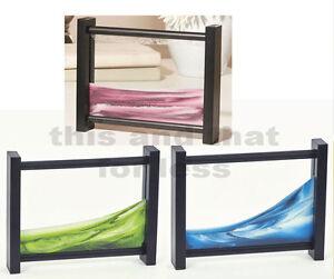 Soothing-Sands-Desktop-Art-Blue-Pink-or-Green-Sand-w-Black-Frame-NIP