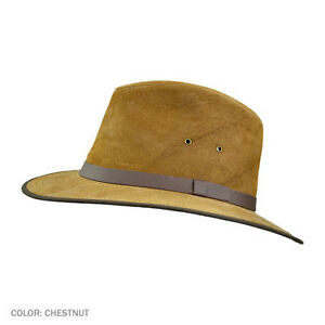 Safari-Hat-All-Leather-Jaxon-034-Nubuck-034-in-S-M-L-XL