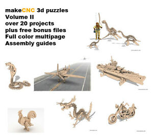 3d-Puzzle-CNC-Router-Scrollsaw-patterns-Plans-DXF-wood-laser-cutter-plasma
