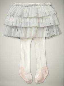 Image Is Loading NWT Baby Gap Silver Tulle Tutu Skirt Attached