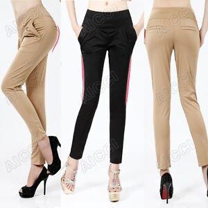 Hot-Sale-Beautiful-Women-039-s-Fashion-Harem-Skinny-Pants-Color-Black-Khaki-Orange