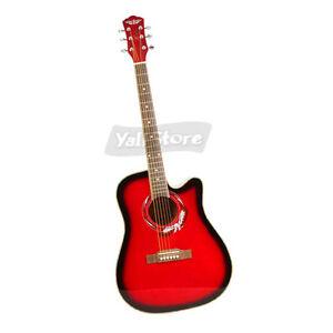 Brand-New-Rhythm-Cutaway-Guitar-Nanyang-wood-41-Inch-Red
