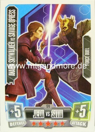 Star wars force attax série 2 force duel 171-177