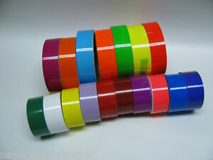 Colored-Glossy-Vinyl-Tape-choose-your-color-and-size-Gloss-Neons-Solid-Color
