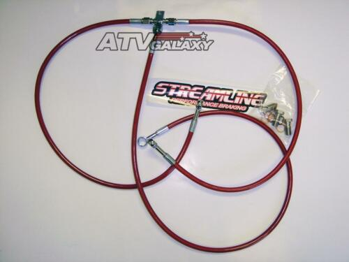 "2/"" Front Brake Lines Yamaha Warrior 350 Streamline Red"
