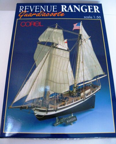 Corel Ranger American Revenue Cutter Wood Ship Model Kit #SM55 Scale 1/50 NEW