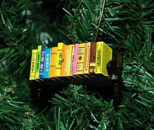 Bibliophile Book Lover Library Christmas Ornament  eBay