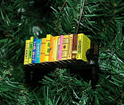 Bibliophile, Book Lover, Library Christmas Ornament