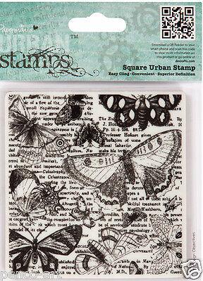 Docrafts urban stamp beautiful lepidopterology Butterflies & Moths 9x9cm