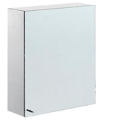 New Single Door Stainless Steel Mirror Bathroom Wall Mounted Cabinet