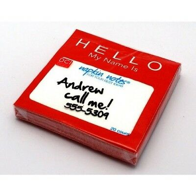 HELLO MY NAME IS NAPKINS - FUNNY - COCKTAIL - SET OF 20