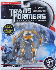 Transformers BUMBLEBEE Dark of the Moon Keychain Keyring LIGHTS UP Autobot NEW