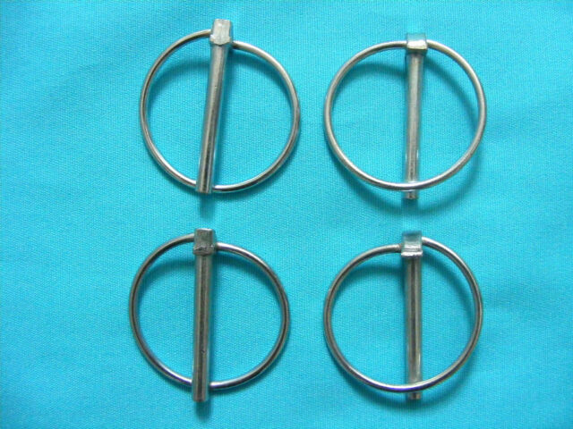 4 x Lynch Pins 4.5mm x 36mm Linch Pin for Trailers Horsebox Lorry Tractor