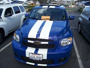 "CHEVY HHR 10"" Plain Rally stripes Stripe Graphics Fit all Models LT LS SS"