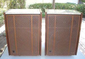 Vintage-JBL-Lancer-L101-C56-Dorian-Speakers-Pair-Org-LE175-LE14A-Near-Mint