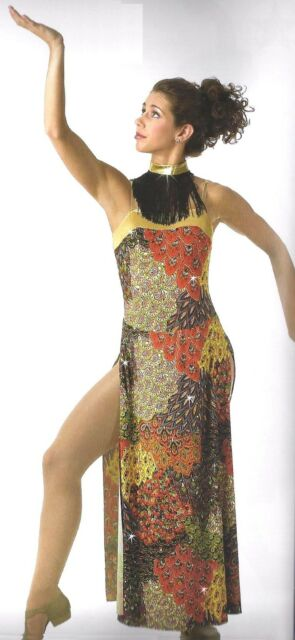 Clearance Egyptian Tribal Goddess Lyrical Dance Costume Child L & XL Adult XL