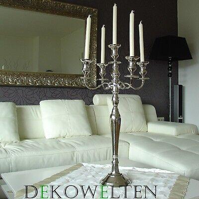 Silber Leuchter Kerzenleuchter Kerzenständer 80 cm Event Silberleuchter Stumpen