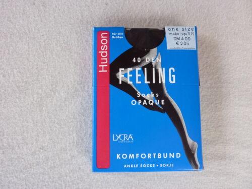 HUDSON Damen Kniestrümpfe Blickdicht Feeling Opaque Komfortbund 40den NEU