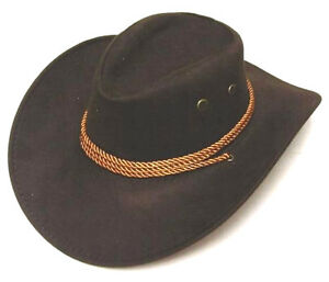 DELUXE-BROWN-ROPER-COWBOY-HAT-western-hats-rancher-caps-rodeo-wear-fashion-NEW