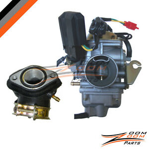 26mm-Carburetor-Intake-Manifold-Kit-for-GY6-150cc-Scooter-Moped-Roketa-Carb-NEW