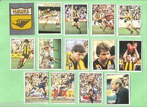 1983 SCANLENS VFL 14 STICKER TEAM SET - HAWTHORN HAWKS