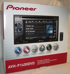 Pioneer-AVH-P1400DVD-In-Dash-2-DIN-Touchscreen-5-8-034-LCD-DVD-Receiver-Double-NEW