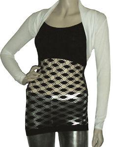 Ladies-New-Bolero-Shrug-Cardigan-Top-Size-10-22-Cream