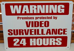 METAL CCTV SECURITY PROTECTION VIDEO CAMERA WARNING SIGN DVR STORE WAREHOUSE NEW