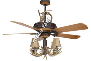 Woodland Series 52 Quot Ceiling Fan With 4 Light Antler