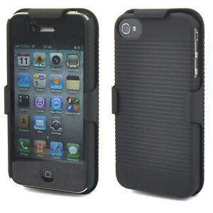 Black-Slide-Case-with-Belt-Clip-Swivel-Holster-Stand-for-iPhone-4-4G-4S-4GS