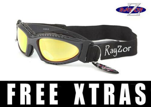 RayZor Uv400 Ski Snowboard Lunettes de soleil Lunettes or Miroir Lentille RRP £ 69 2In1