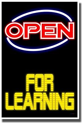NEW SCHOOL CLASSROOM MOTIVATIONAL POSTER - Open For Learning