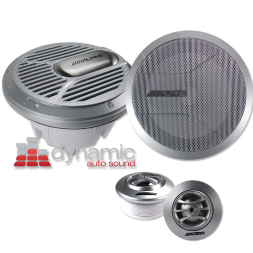 "ALPINE® SPR-M70 7"" 2-Way Marine Type-R Series Boat Component Speakers System NEW"