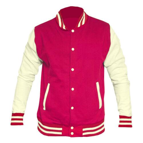 Mens Varsity  Baseball College Button Up Sweater Jacket XS-XXL NEW
