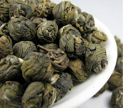 NEW 100% Organic Premium King grade Jasmine Dragon Pearl Chinese GREEN TEA
