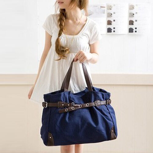 Vintage Retro Women School bag Canvas Satchel Tote Handbag Shoulder Shopper Bag