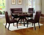 Hillsdale Furniture Hillsdale Nottingham Round 5-Piece Dining Set, Dark Espresso, Set Includes 1-Table and 4-Chairs (4077DTBC)
