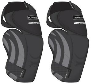 New-Powertek-V5-0-Barikad-ice-hockey-goalie-knee-pad-Jr-sz-thigh-protector-guard