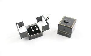 10-Luxury-Black-Leatherette-Double-Door-Jewellery-Shop-Earring-Gift-Display-Box
