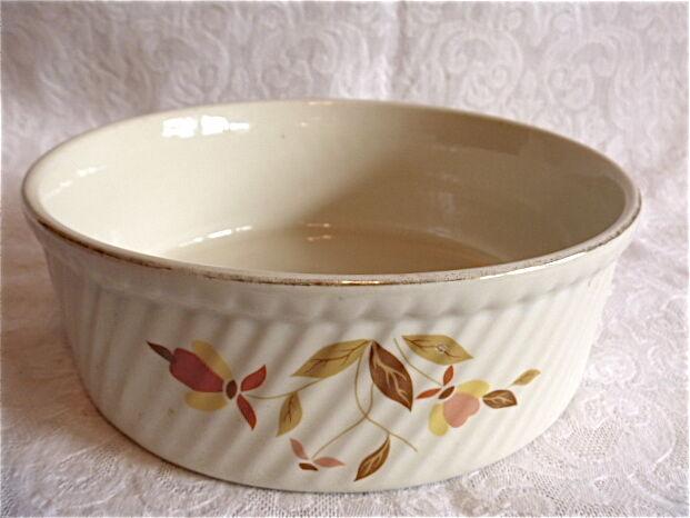 Hall Autumn Leaf  casserole souffle Jewel French Baker VG+