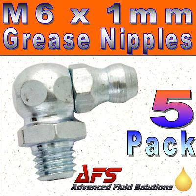 5 x M6 x 1mm 90 DEGREE GREASE NIPPLE METRIC Hydraulic