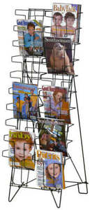 20-Pocket-Floor-Magazine-Literature-Book-Display-Rack