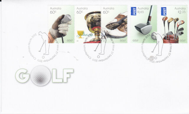 2011 Golf in Australia - FDC (Gummed) Cheltenham North 3192 PMK