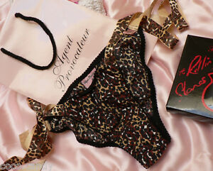 Agent Provocateur tie-side knickers M new Rolling Stones leopard ... 3fd22065f