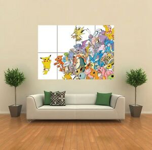 POKEMON-PIKACHU-ART-PRINT-POSTER-PICTURE-GIANT-HUGE-G939