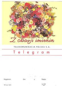 TELEGRAMME-POLOGNE-FLEURS-BOUQUET-ROSES-14-8-x-20-7-cm
