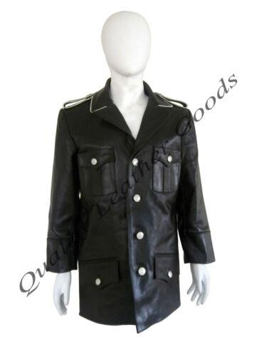 100/% Cuir Véritable Allemande WW2 tunique /& culotte Pantalon Uniforme Militaire Manteau