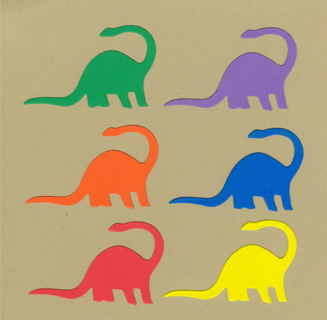 Your choice of colors on Brontosaurs Die Cuts - AccuCut