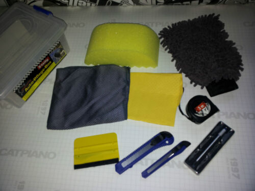SET PULIZIA PER CAR WRAPPING PELLICOLE 10 pezzi verklebe set//box